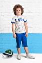 U.S. Polo Assn. Lisanslı Erkek Çocuk Kapri Takım Krem